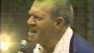 Fritz Von Erich has a surprise for Michael Hayes