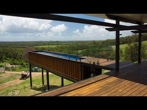 Modern Home With A Shipping Container Pool