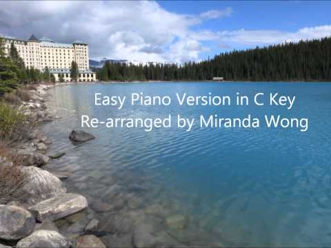 Clair de Lune in C Key (Debussy) - Easy Piano Solo Re-arranged by Miranda Wong