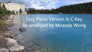 Clair de Lune in C Key - Easy Piano Version Re-arranged by Miranda Wong
