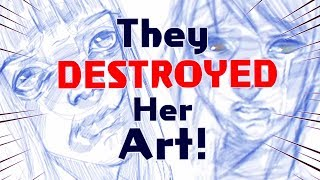 THEY DESTROYED HER ART! - Kid Erases Artist's Drawing - Art StoryTime + Video Evidence
