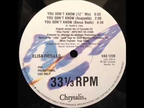 Elisa Fiorillo - You Don't Know