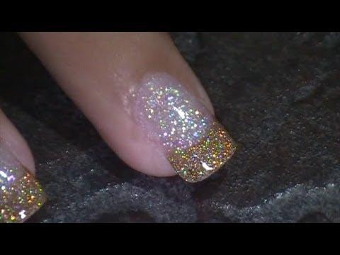 Gold Shimmer Nail Art Prom 2013 Jennifer Perez Of Mystic