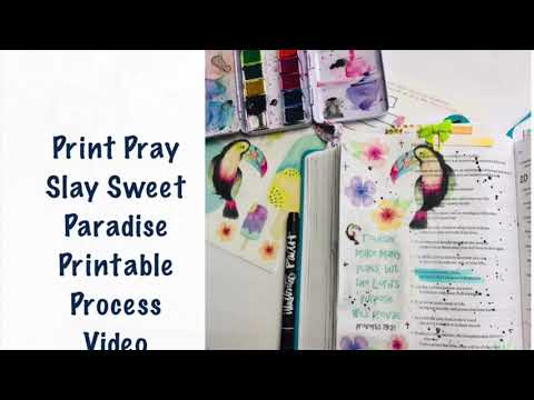 Print Pray Slay Sweet Paradise