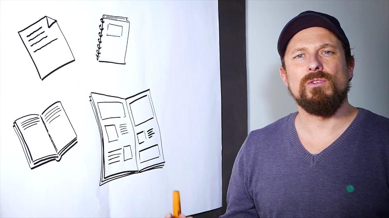 Jeg tegner papir, en bog, en avis og en notesbog - Ikon Bank med papir, avis, notesbog og en bog