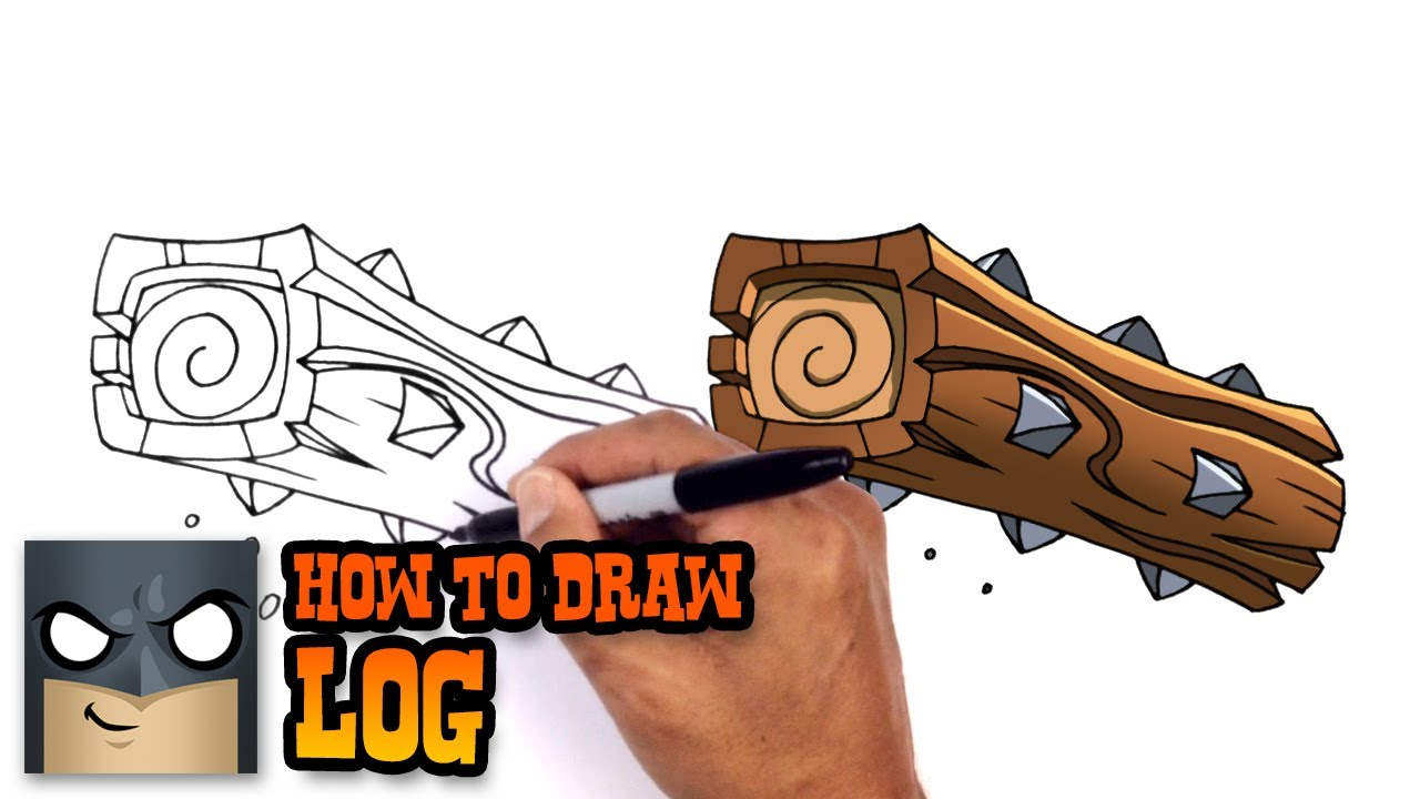 How to draw log clash royale youtube
