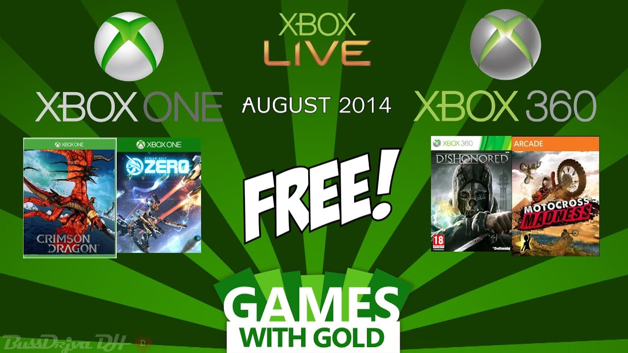 Xbox Games With Gold August 2014 Xbox One Xbox 360
