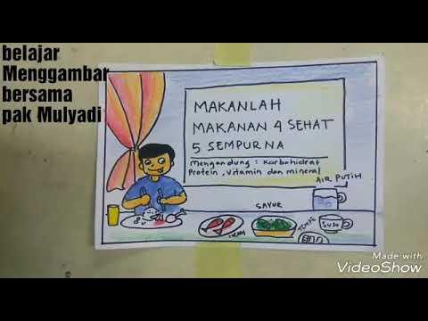 VIDEO MENGGAMBAR ANAK SD | Cara menggambar dan mewarnai ...