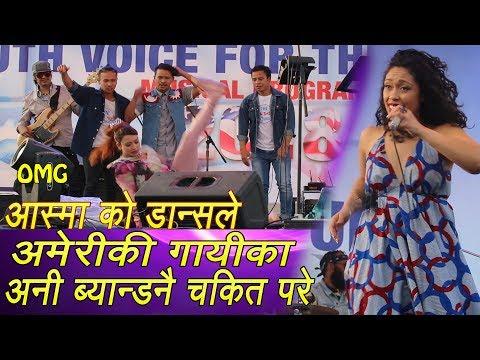 Asma  VS American Rap Singer  Aisha Fukushima Singing Nepali song