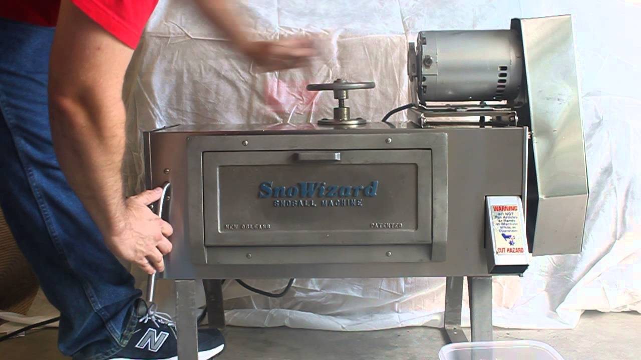 Sno pro shaved ice machine
