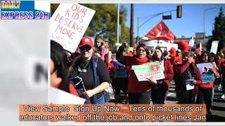 Los Angeles Teachers' Union Strike Enters Sixth School Day