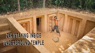 Build The Most Stunning Underground Temple as a Survival Shelter