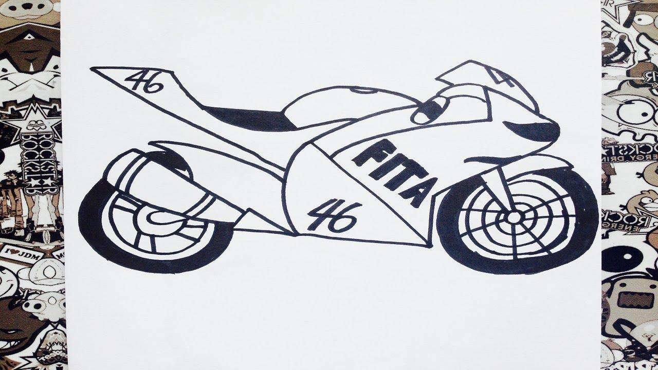 Motos Deportivas Para Dibujar On Log Wall