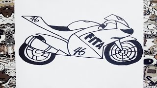 Como dibujar una moto | how to draw bike