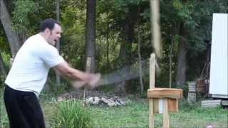 Ronin Katana Entry Level Sword Destruction Testing. Breaking Multiple Samurai Swords
