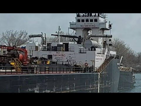 Tug and Barges Norman Mc Leod | passing on canal | Shipspotting Canada