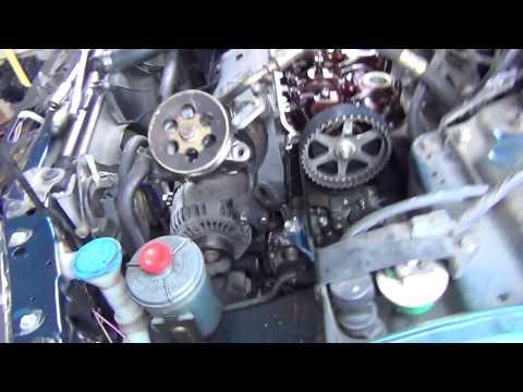 Honda Accord 2.2 Non V-tec Timing Belt and Water Pump Replacement (Boring Repair Video)