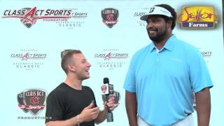 Hall of Famer Jonathan Ogden Supports the Class Act Sports Foundation