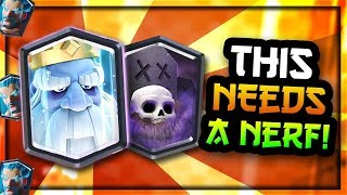 THIS NEEDS A NERF!! Best Graveyard Royal Ghost Deck — Clash Royale