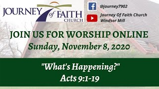 "'What's Happening?"" Nov. 8, 2020 Worship Service"