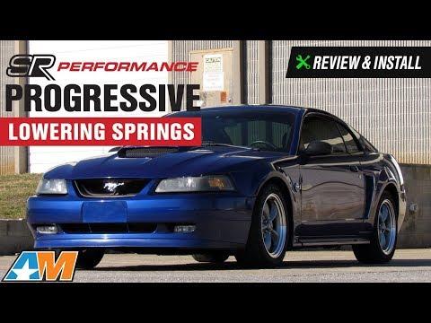 1979-2004 Mustang GT, Cobra, Mach 1 SR Performance Progressive Lowering Springs Review & Install
