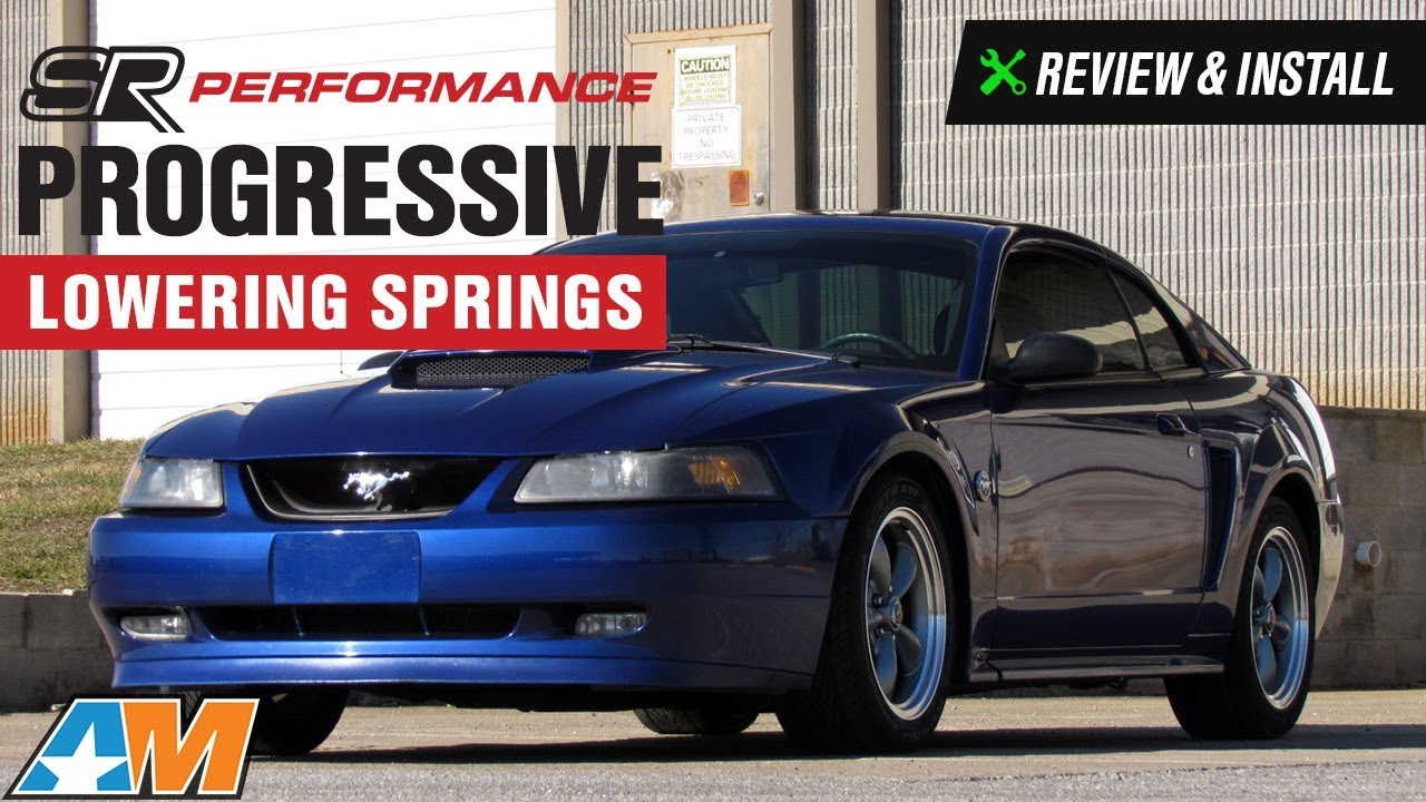 Mustang Gt Cobra Mach  Sr Performance Progressive Lowering Springs Review Install
