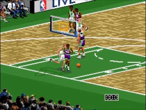 NBA Live 96 (SNES)-Milwaukee Bucks vs Boston Celtics