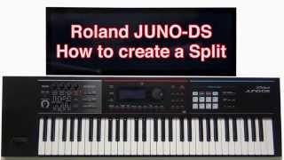 Roland Juno-DS - How to create a Split layer