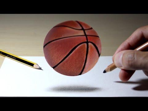 3D Trick Art on Paper - Basketball