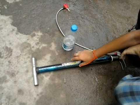 Water bottle rocket experiment #2