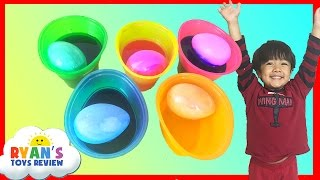 Coloring Easter Eggs with Paw Patrol Stickers Easter Toys Ryan ToysReview
