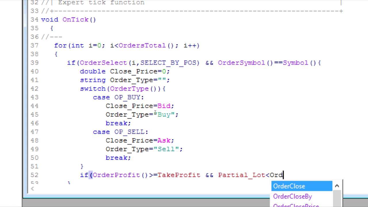 របៀបសរសេរ Code MQL4 បង្កើត