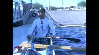 Allen Abad teaches canoe paddling technique