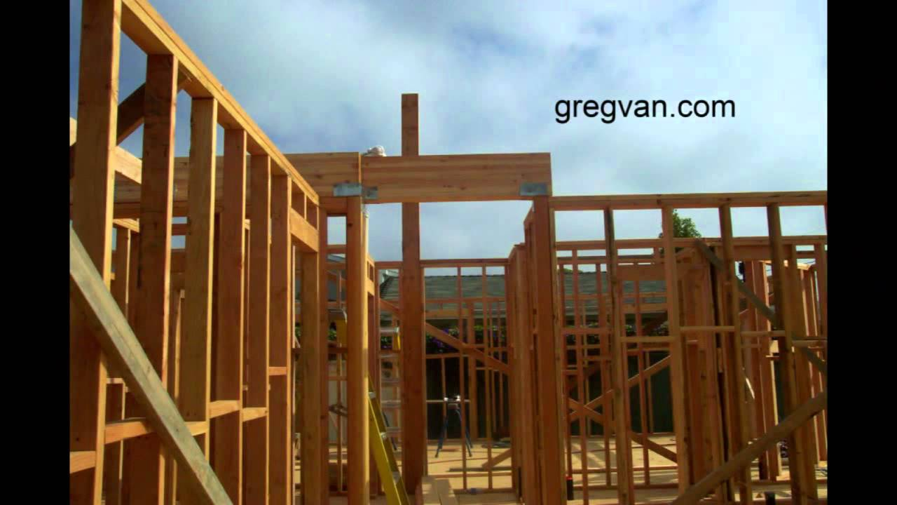 structural post and concrete supports basic house framing