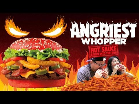 BURGER MERAH ?? ANGRIEST Whopper Review BURGER KING !