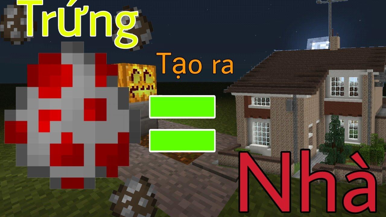 Cách làm TRỨNG SPAWN RA NHÀ !!! – Minecraft PE