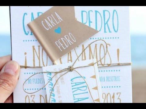 Tarjetas De Invitacion Para Bodas Virtuales Youtube
