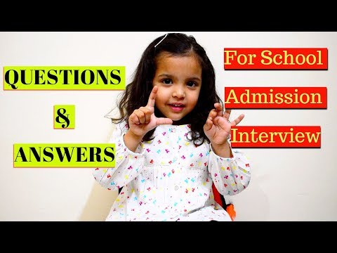 School Admission Interview Question & Answers for Kids|Preparation &Tips For School Interview,India