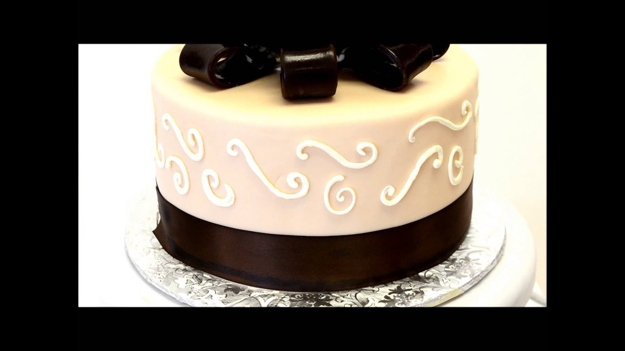 Brown Wedding Cake Simple Wedding Cake Design Fondant Cake Youtube