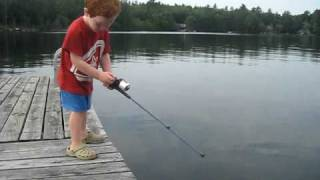 Boy catches fish in record time