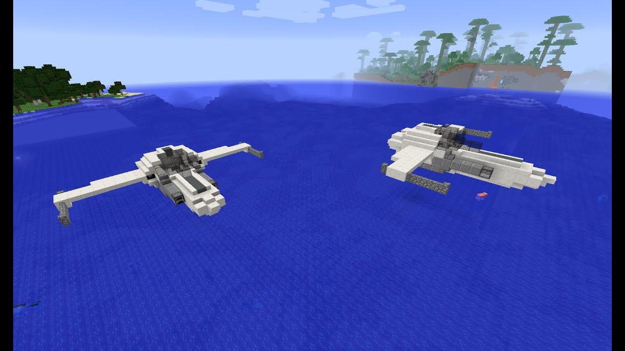 minecraft tuto vaisseau spatial de combat youtube. Black Bedroom Furniture Sets. Home Design Ideas
