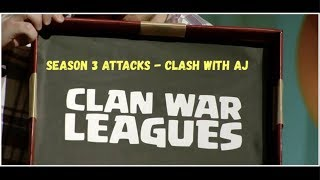 Clan War League Season 3 - Clash of Clans with AJ