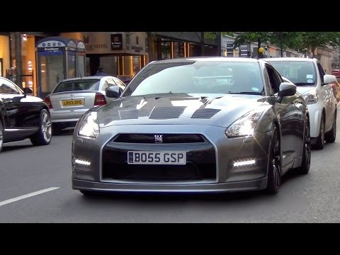 800HP Nissan GT-R R35 w/HKS Exhaust Loud Accelerations and Sound