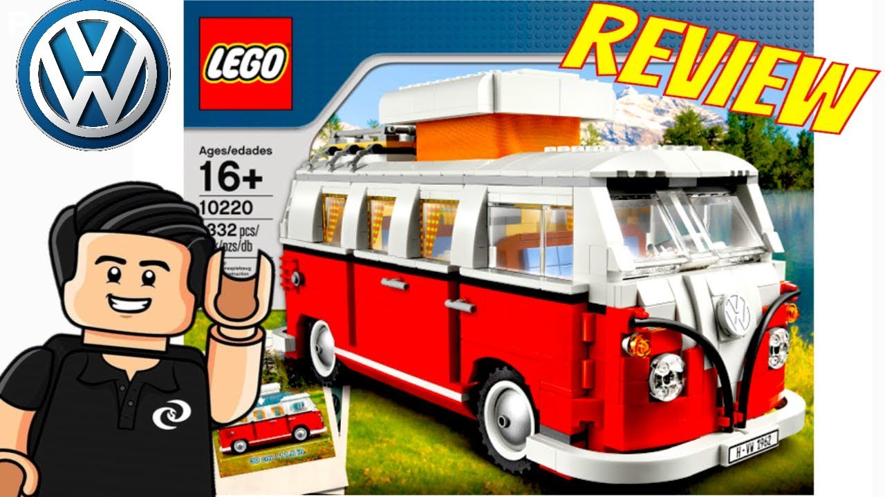 lego creator volkswagen t1 camper van combi vw set 10220 revision youtube. Black Bedroom Furniture Sets. Home Design Ideas