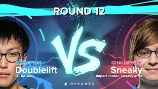 Versus Round 12: Sneaky's Multi-Kill (Challenger) vs. Doublelift's Mechanics (Champion)