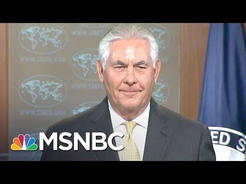 Rex Tillerson Fears Moscow Anger Over Counter-Propaganda Initiative   Rachel Maddow   MSNBC