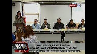 SONA: Pres. Duterte, pinagbibitiw ang presidente at board members ng PhilHealth