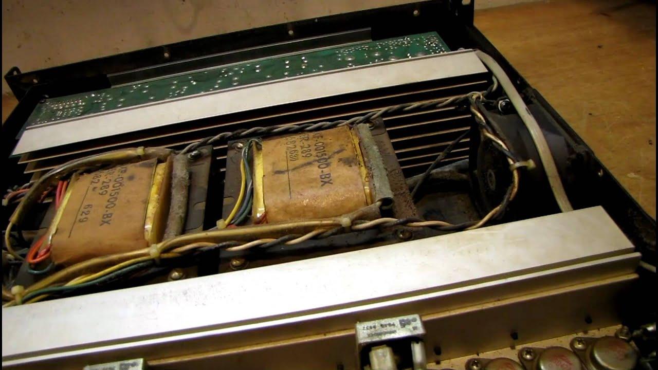 Vintage QSC MX1500 Amplifier Test  YouTube