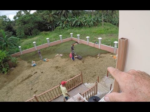 VILLA FELIZ - EPISODE 299: HOW TO INSTALL STAIR POSTS AND RAILS (House Building in the Philippines)