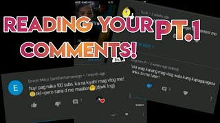 READING YOUR COMMENTS PT.1 | TAPANG! #Tagalog